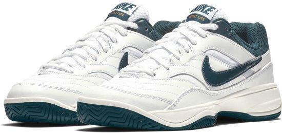 best service c8127 9a6d0 Nike Court Lite Tennisschoenen Dames Sportschoenen - Maat 40 - Vrouwen -  witblauw