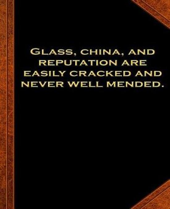 Ben Franklin Quote Glass China Reputation Vintage Style School Composition Book