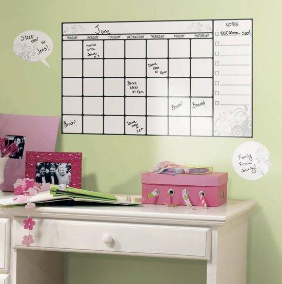 Muurstickers Winnie The Pooh Zwart Wit.Bol Com Roommates Muursticker Calendar Whiteboard Wit