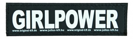 Julius K9 Labels Voor Power-Harnas/Tuig Girlpower - SMALL