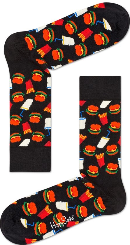 Happy Socks Hamburger Junkfood Sokken, Maat 36/40
