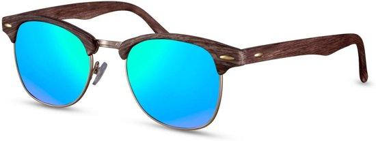Cwi Zonnebril Unisex Wayfarer Cat.3 Bruin/blauw (cwi1479)