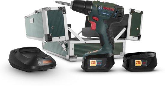Bosch PSR 1810 LI-2 Accuboormachine - 18 V - met 116-delige toolbox