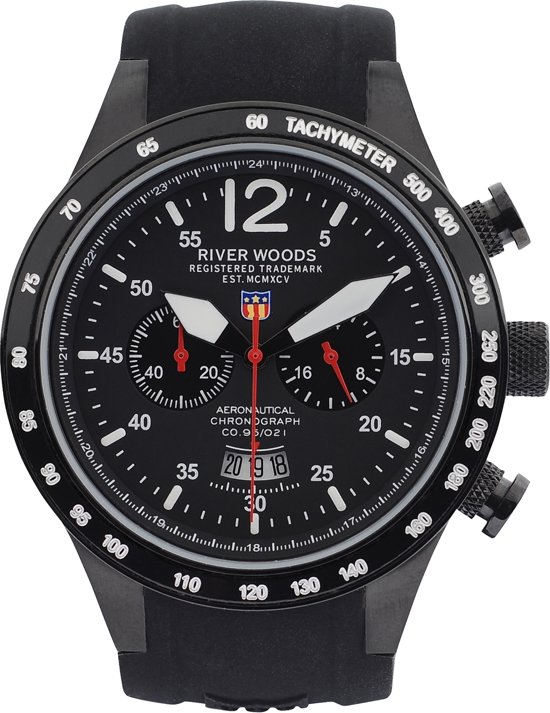 River Woods C1Bdscb - Horloge - Zwart