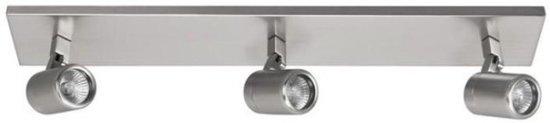 bol.com | Badkamer Spot Rain 3 lichts led Highlight staal