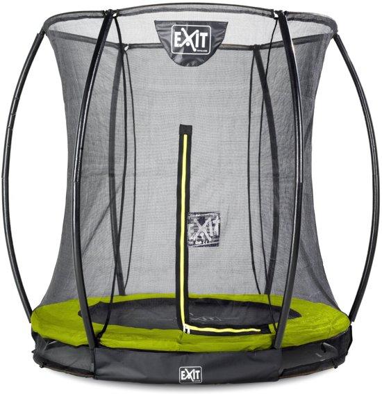 EXIT Silhouette inground trampoline ø183cm met veiligheidsnet - groen