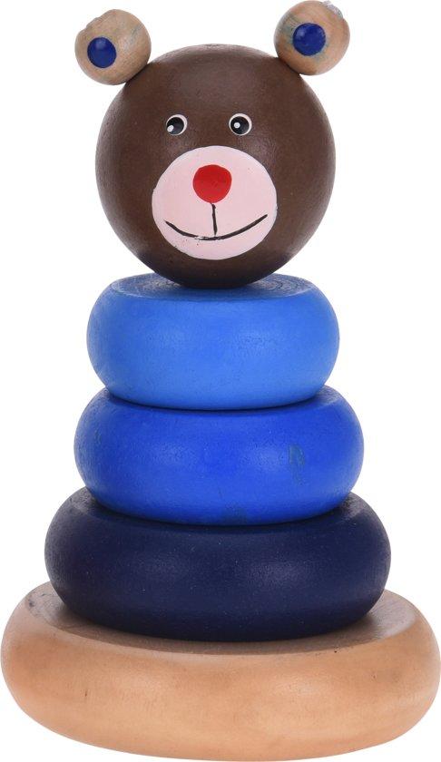 Afbeelding van Free And Easy Stapelringen Beer 5-delig Blauw speelgoed