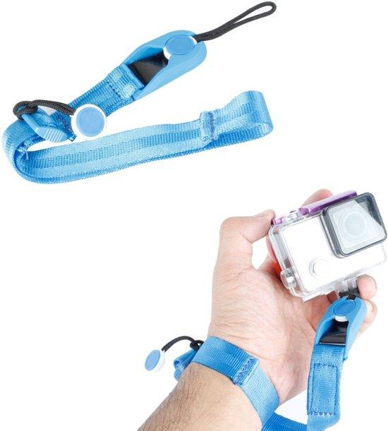 TMC CA003 Snelsluiting cameramanchet polsband voor GoPro NIEUWE HERO / HERO6 / 5/5 sessie / 4 sessie / 4/3 + / 3/2/1, Xiaoyi en andere actiecamera's, maximale lengte: 22 cm (blauw)
