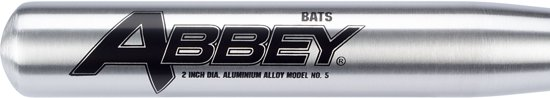 Abbey Honkbalknuppel - Aluminium - 75 cm - Zilver
