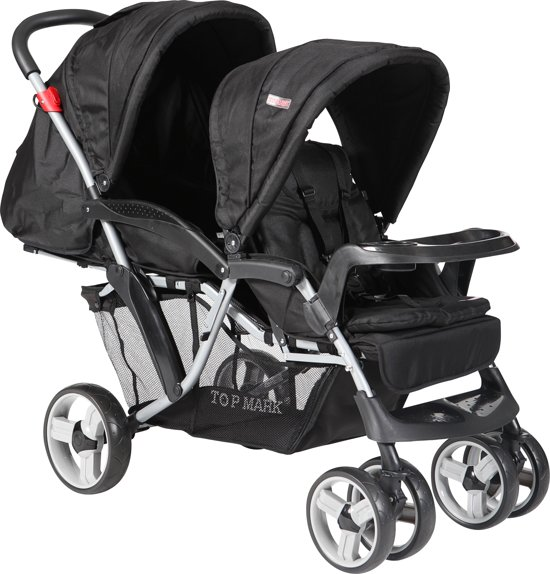 Top Mark - Duo Tandem Kinderwagen - Zwart
