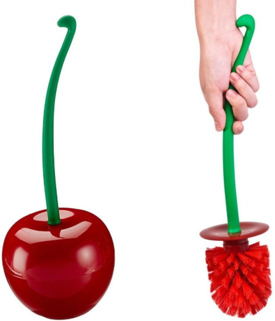 WC-borstel Toiletborstel Cherry Kers met rode borstel