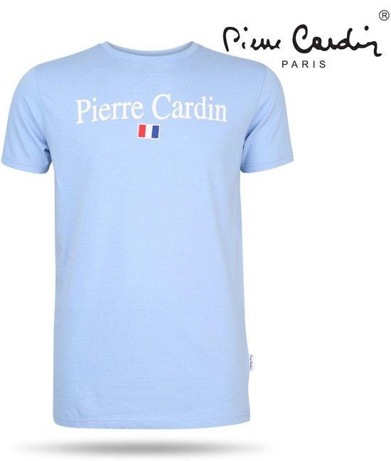 Pierre Cardin - Heren T-Shirt - Ronde Hals - Blauw