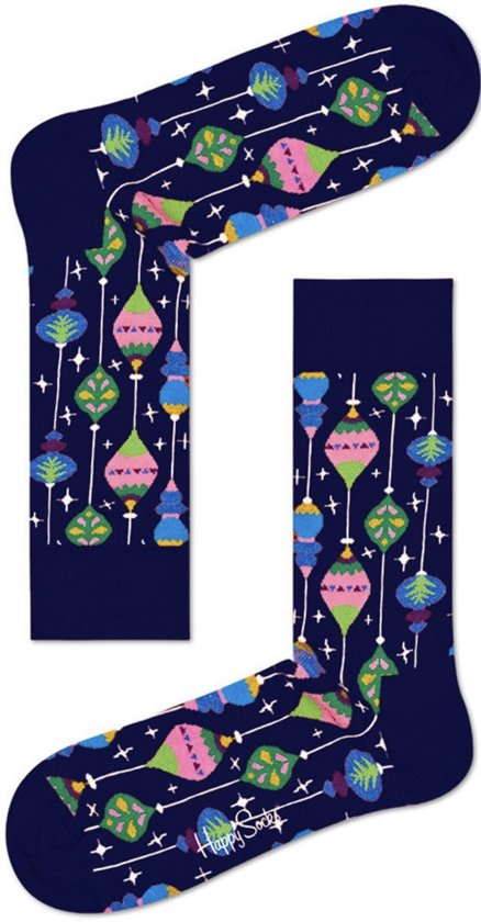 Happy Socks - Happy Holiday Christmas - kerstbal - blauw - Unisex - Maat 36-40