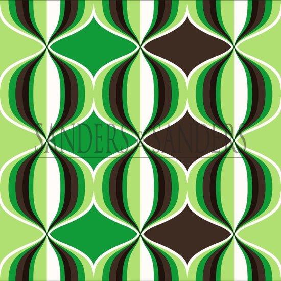Retro Behang Te Koop.Sanders Sanders Behang Grafisch Motief Groen 935230 53 X 1005 Cm