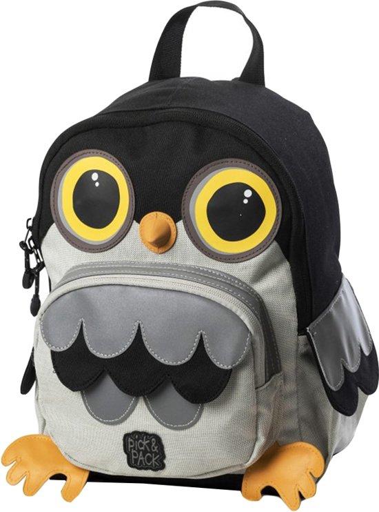 2892ba1fce1 bol.com | Pick & Pack Owl Shape - Rugzak - Grey Multi