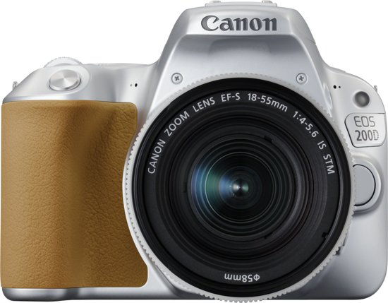 Canon EOS 200D + 18-55mm IS STM - Zilver
