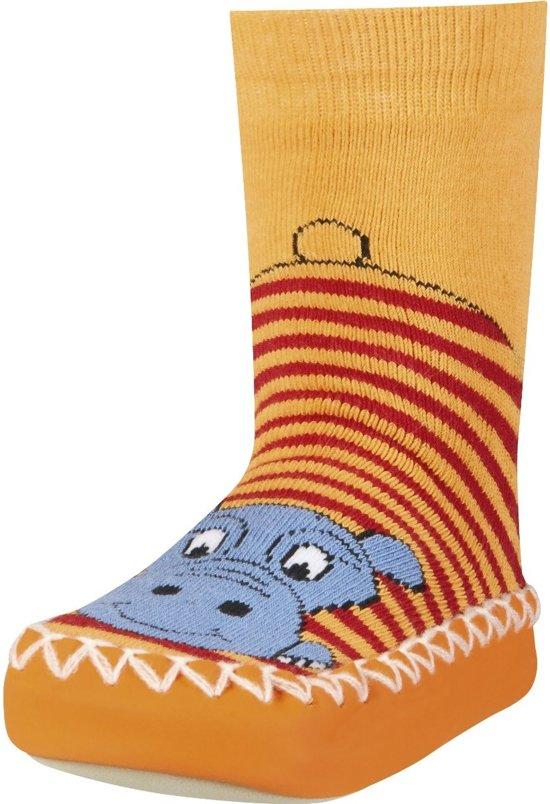 Playshoes soksloffen nijlpaard rood Maat: 23-26