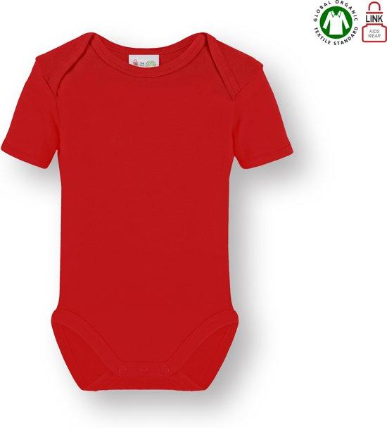 f5af4587e6e457 bol.com | Link Kidswear Unisex Rompertje - Rood - Maat 74/80