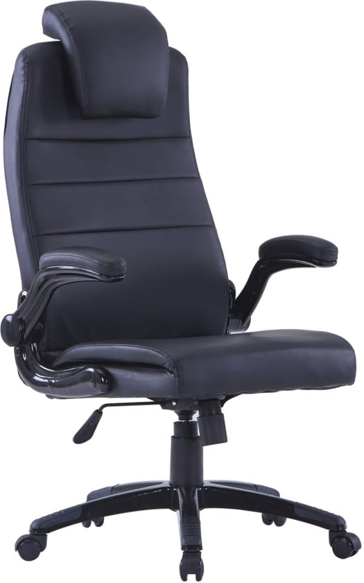 Verstelbare Bureaustoel Zwart.Bol Com Kunstleren Bureaustoel Zwart Verstelbaar