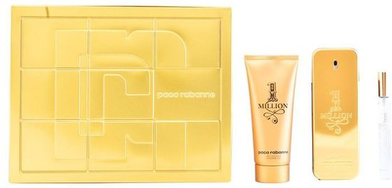 Paco Rabanne 1 Million Giftset - 100 ml eau de toilette spray + 10 ml eau de toilette spray + 100 ml showergel - herenparfum