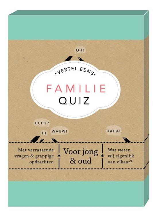 Boek cover Vertel eens - Familie Quiz van Elma van Vliet (Onbekend)