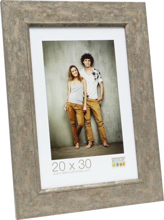 fotokader grijs-beige hout