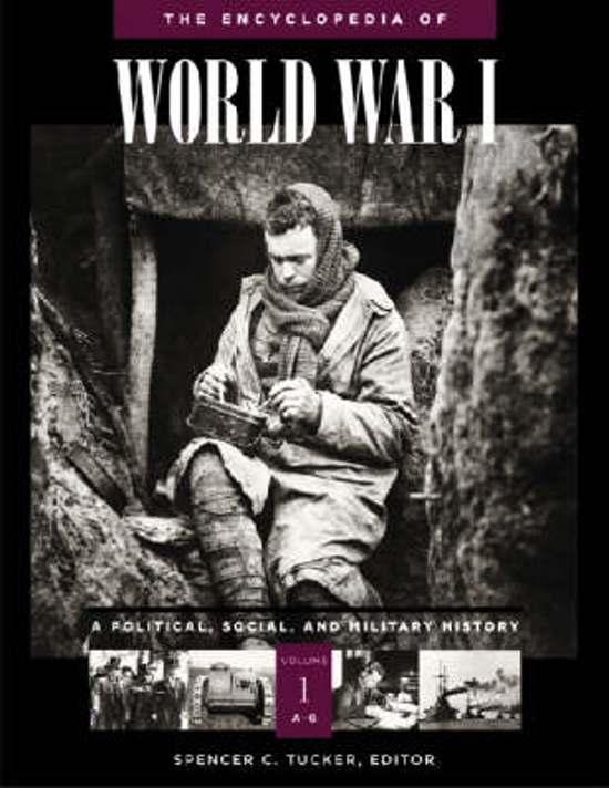 The Encyclopedia of World War I [5 volumes]