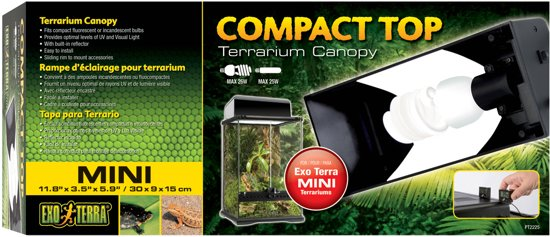 Exo Terra Terrarium verlichting Compact Top - 30 x 9 x 15cm