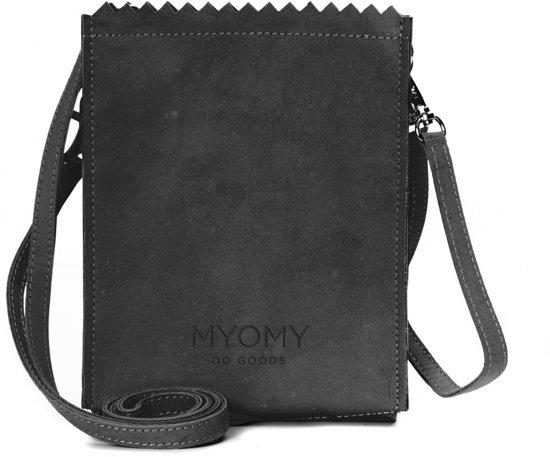 Myomy - My paper bag- Baggy - Crossbodytas - Zwart