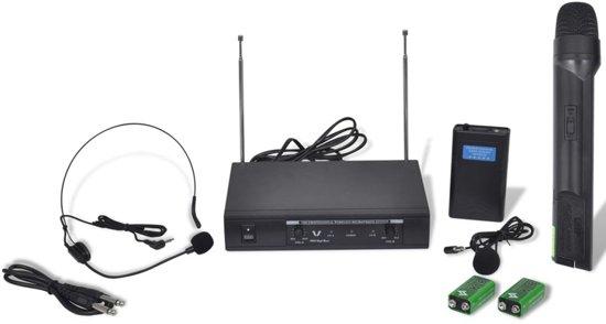 Ontvanger met 1 draadloze microfoon en 1 draadloze koptelefoon VHF in Waasmont