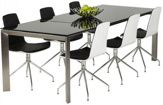 Strakke Witte Eettafel.Bol Com 24designs Gala Eettafel 260x100 Cm Zwart