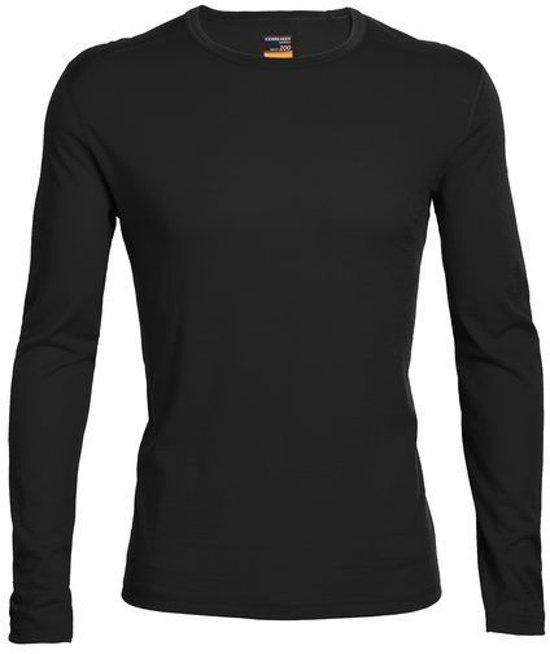 Icebreaker BF200 Oasis LS Crewe - heren - thermoshirt - zwart - maat XL