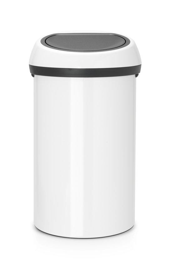 Brabantia 60 Liter.Brabantia Touch Bin Prullenbak 60 L White