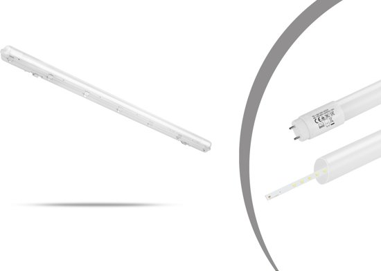 Bol.com led tl verlichting balk opbouw lamp 4000k 18 watt ip65