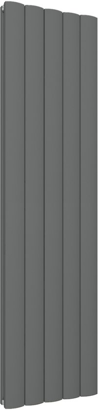 Radiator Verticaal Design.Design Radiator Verticaal Aluminium Mat Antraciet 180x47cm 2280 Watt Guardia
