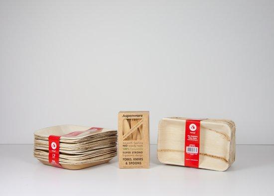 Duurzaam (biologisch) BBQ wegwerpservies - Medium