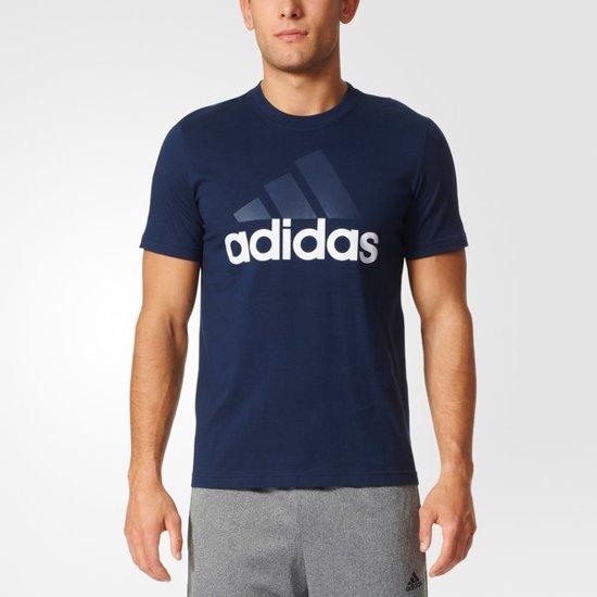 0533fae9ef9 adidas Essentials Linear Tee - Sportshirt - Heren - XL - Collegiate Navy