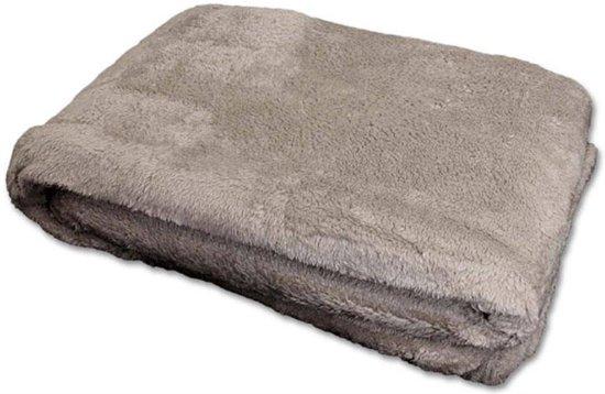 Woonexpress Justin - Plaid - Polyester - 150 x 200 cm - Grijs - Polyester - 150 x 200 cm - Grijs