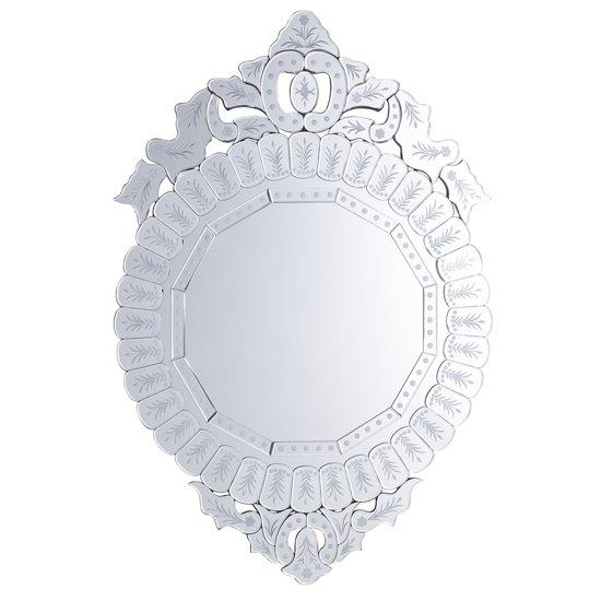 Beliani CRAON - Wandspiegel - Zilver - Glas