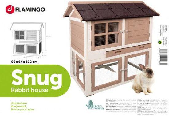 Flamingo konijnenhok Snug - 98 x 64 x 101 cm