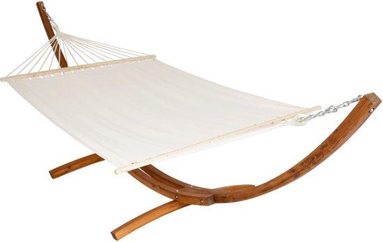 Hangmat Met Stevig Frame.Bol Com Xxl Hangmat Hardhouten Frame 415 X 150 X 124 Cm 401995