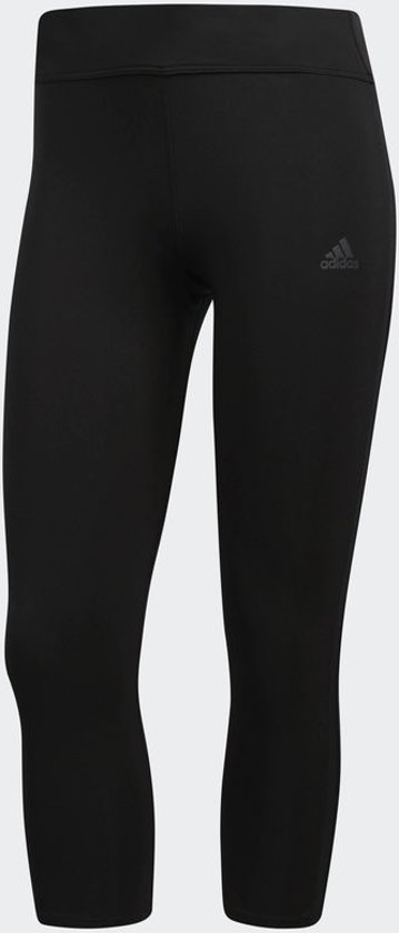 adidas Response Long Tight Hardlooplegging Dames - Black/Black