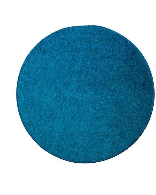 rond blauw vloerkleed