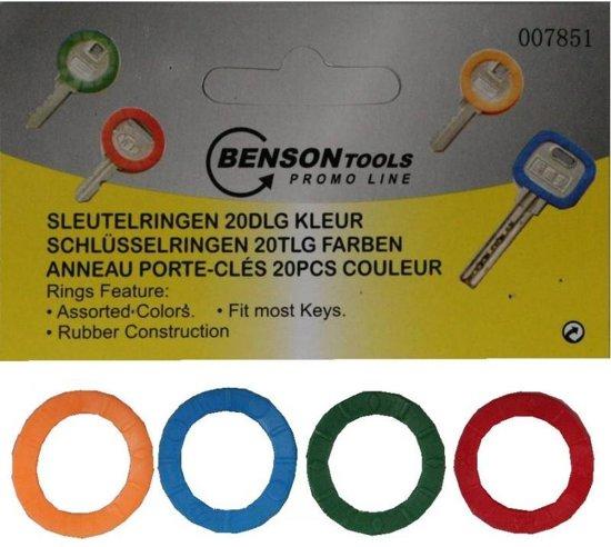 Sleutelring Kleur - Sleutelhoes - Diverse kleuren - 20 stuks