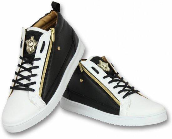 7e33e311079af2 Cash Money Heren Schoenen - Heren Sneaker Bee Black White Gold - CMS98 -  Zwart/