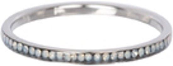 IXXXI Vulring zirkonia white opal zilverkleurig 2mm - maat 17