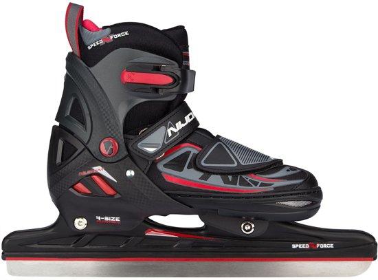 Nijdam Junior Norenschaats Junior Verstelbaar - Semi-Softboot - N-Force I - Zwart/Rood/Antraciet - 33-36
