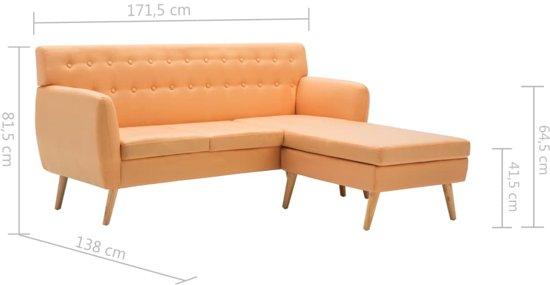 vidaXL Bank L-vormig 171,5x138x81,5 cm stof oranje