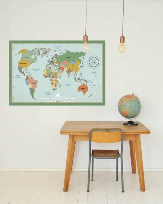 Tinkle&Cherry - Muursticker - Wereldkaart