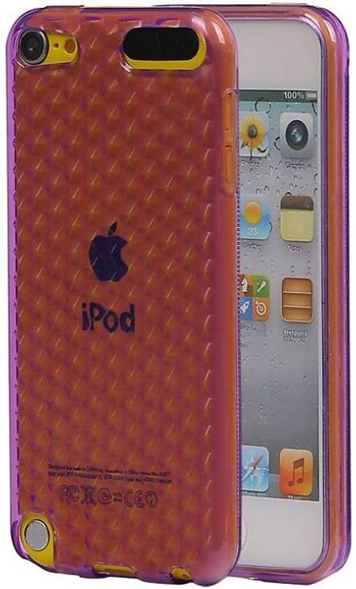Apple iPod Touch 5 Hoesje Diamand TPU Paars